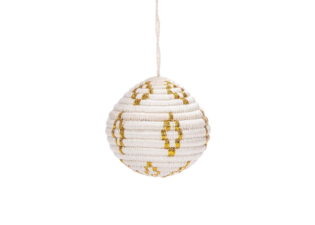 Globe Gold Metallic Ornament - KAZI