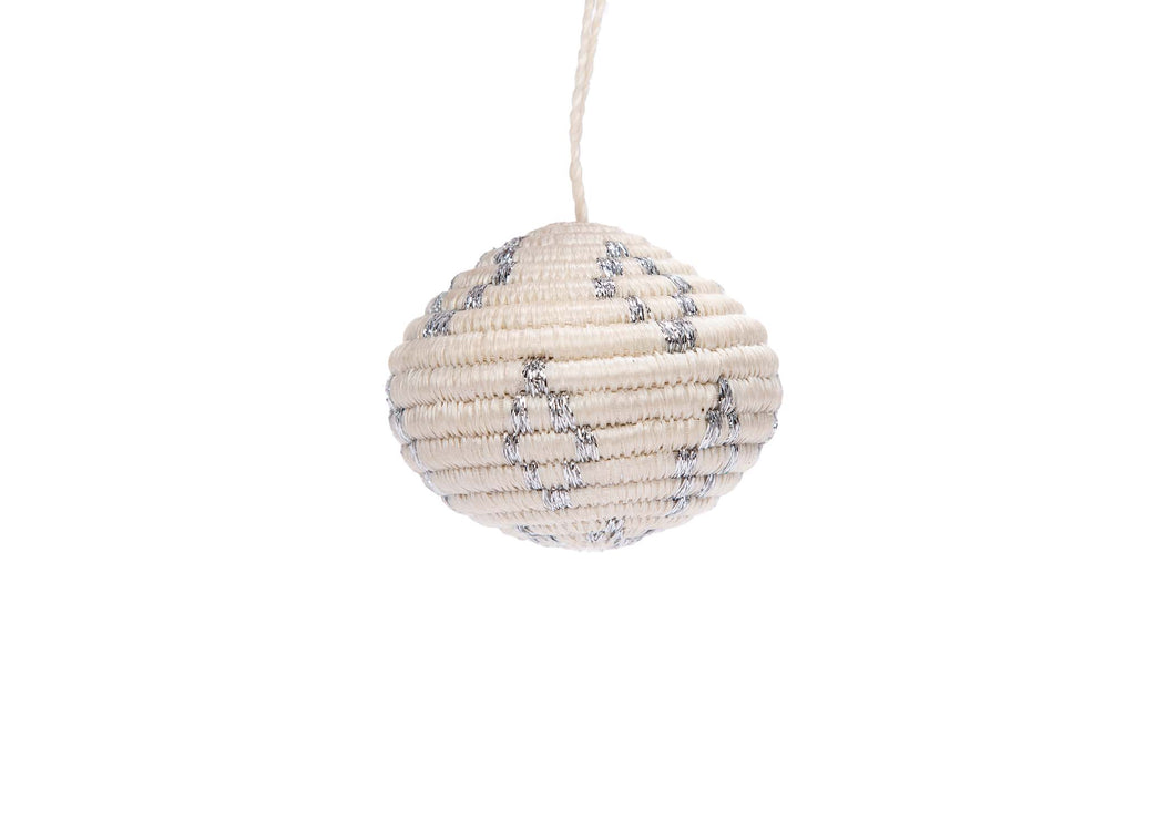 Globe Silver Metallic Ornament - KAZI