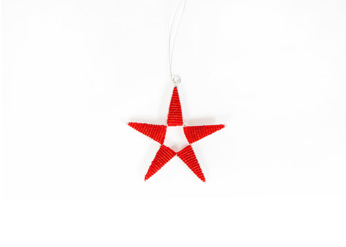 Red Beaded Star