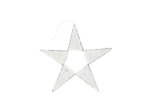 White Large Beaded Star