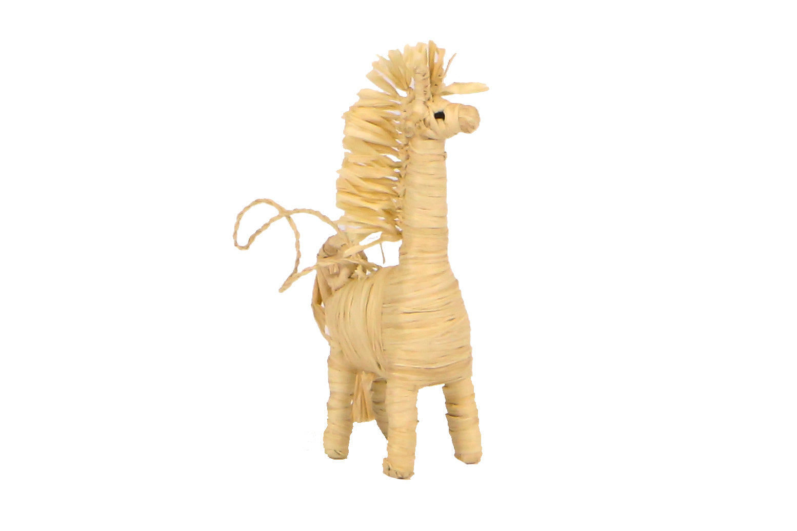 Natural Raffia Giraffe Ornament - KAZI