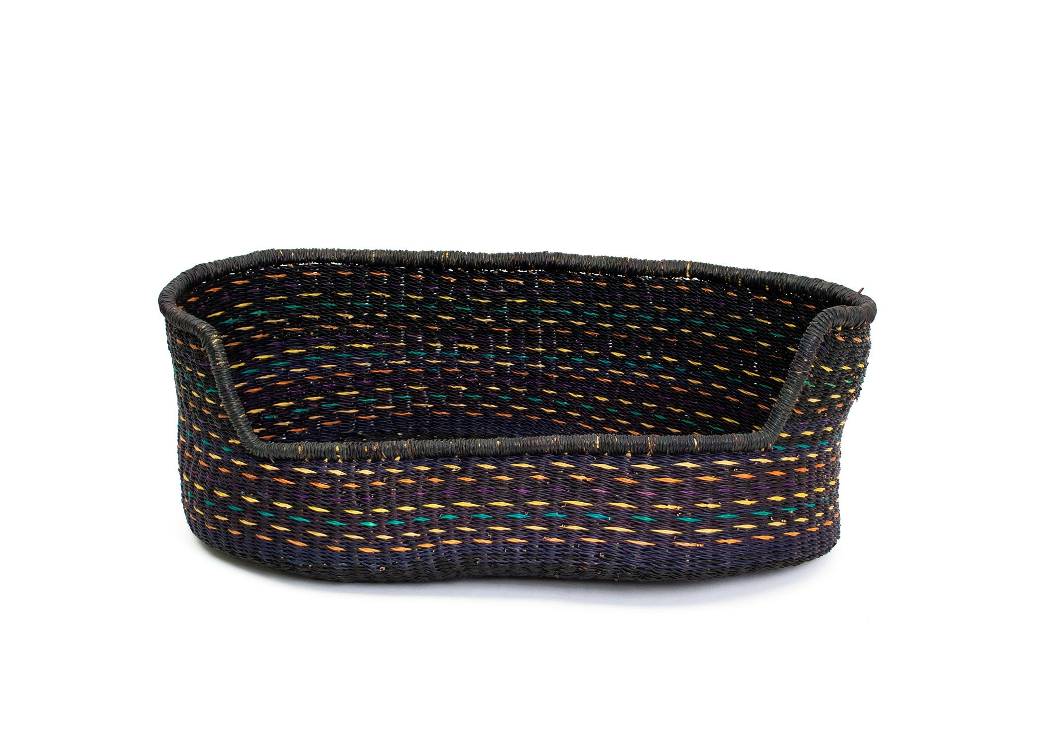 Medium Multicolor Dashed Pet Bed - KAZI - Artisan made high quality home decor and wall art