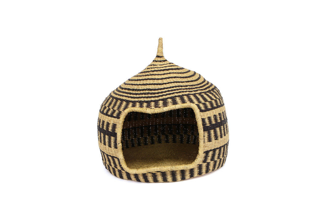 Black Short Pet Hut (M) - KAZI - Artisan made high quality home decor and wall art