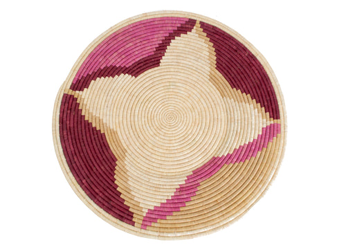 Rosette Color Blocked Jumbo Raffia Plate