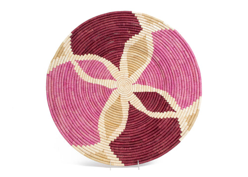 Rosette Color Blocked Extra Large Raffia Plate