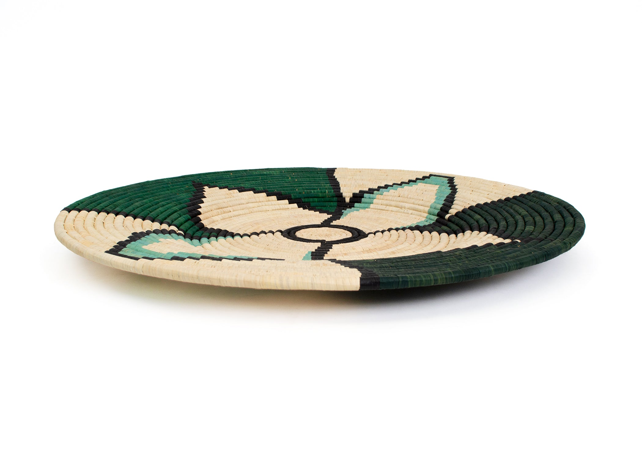 "27"" Extra Large Brea Forest Bud Woven Wall Art Plate - KAZI - Artisan made high quality home decor and wall art"