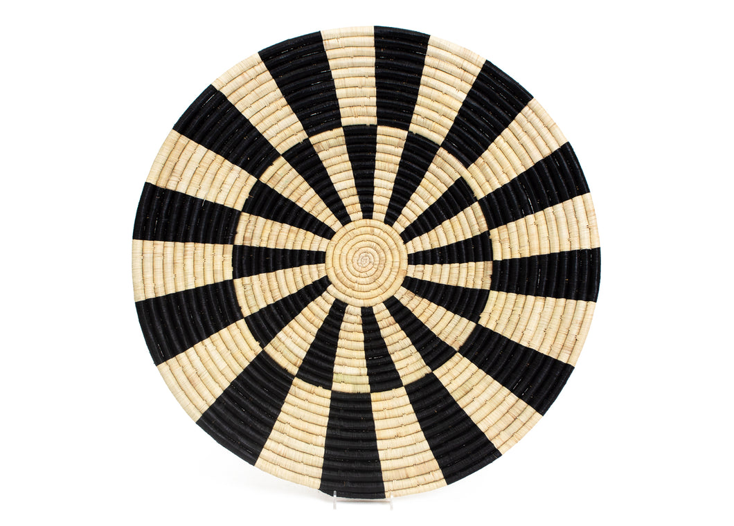 Roulette Black Plate - KAZI - Artisan made high quality home decor and wall art