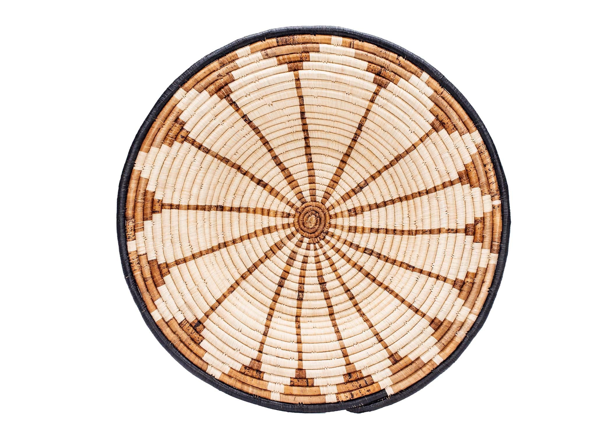 "21"" Large Banana Burst Woven Wall Art Plate - KAZI"
