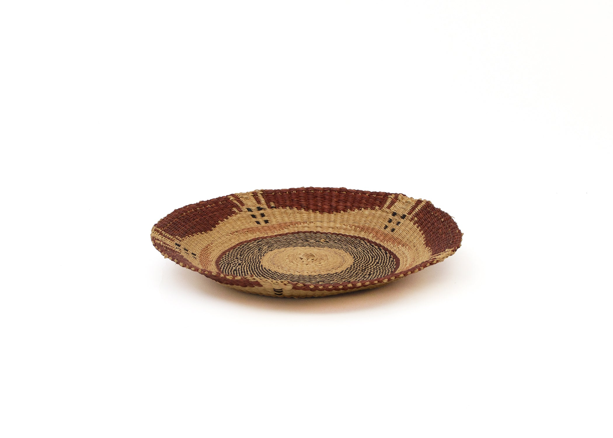 Small Earth Brown Bolga Plate - KAZI - Artisan made high quality home decor and wall art