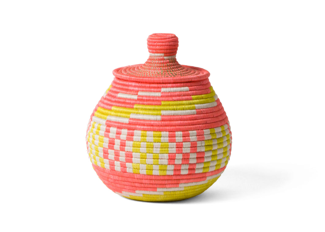 Coral Geo Lidded Box - KAZI - Artisan made high quality home decor and wall art