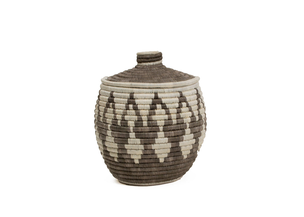 Medium Light Taupe Mwiba Box - KAZI - Artisan made high quality home decor and wall art