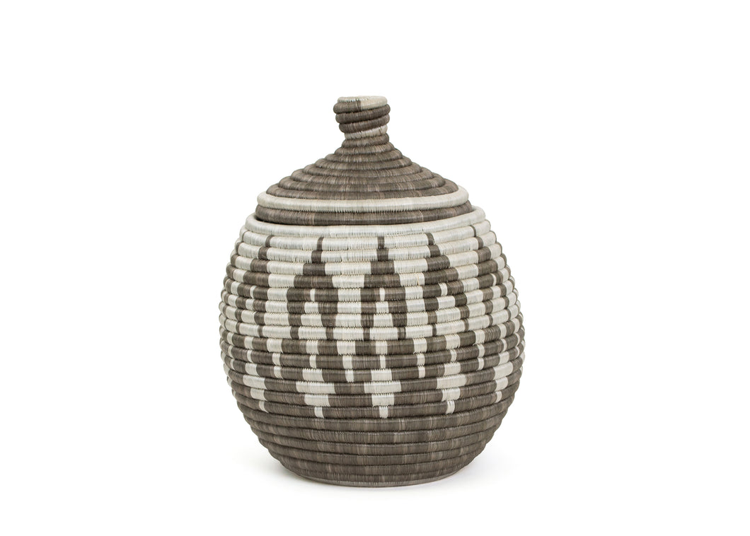 Large Light Taupe Mwiba Box - KAZI - Artisan made high quality home decor and wall art