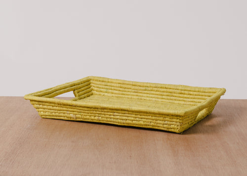 Sun Rectangular Raffia Tray