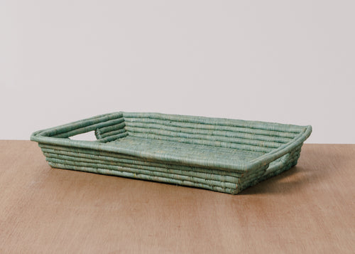Ether Rectangular Raffia Tray