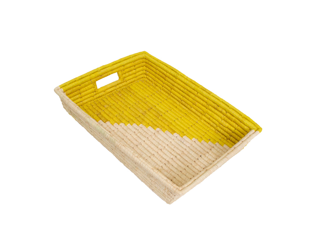Sun Geo Raffia Tray - KAZI - Artisan made high quality home decor and wall art