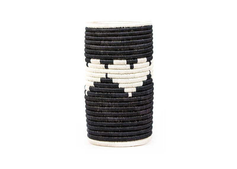 Black and White Heart Vase