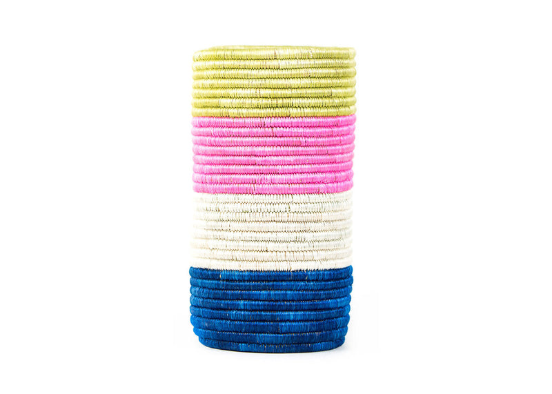 Striped Spring Sisal Vase