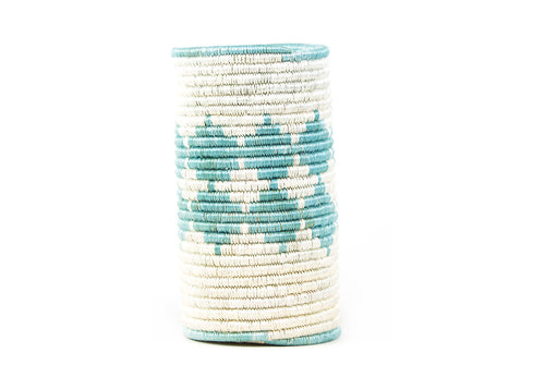 Silver Blue Diamond Sisal Vase