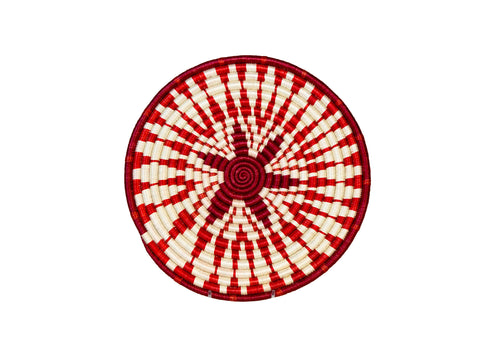 Small Fiery Red Intore Trivet