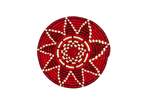 Small Fiery Red Thousand Hills Trivet