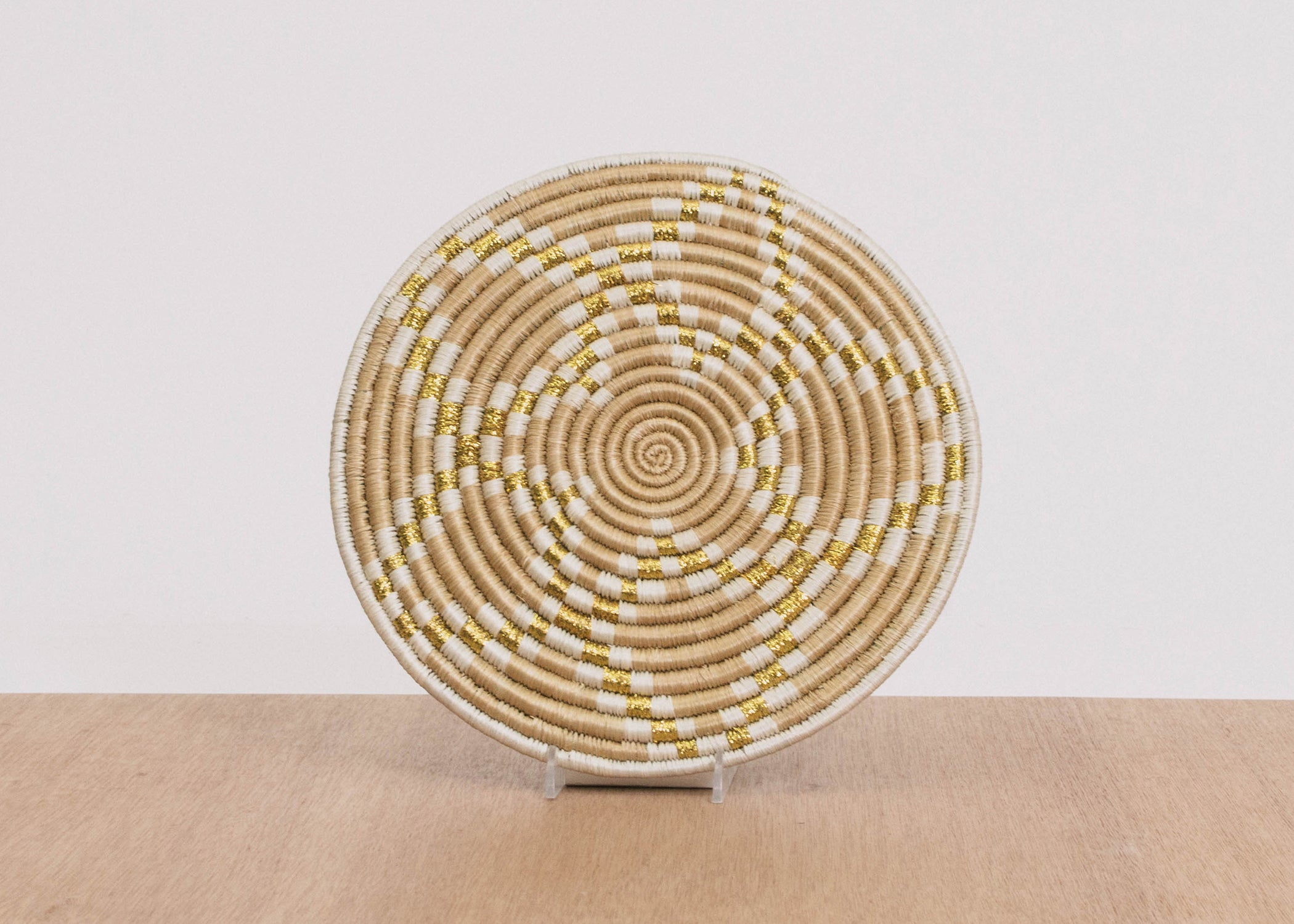 Small Metallic Soft Gold Virunga Trivet - KAZI - Artisan made high quality home decor and wall art