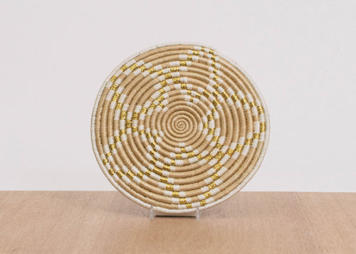 Small Metallic Soft Gold Virunga Trivet