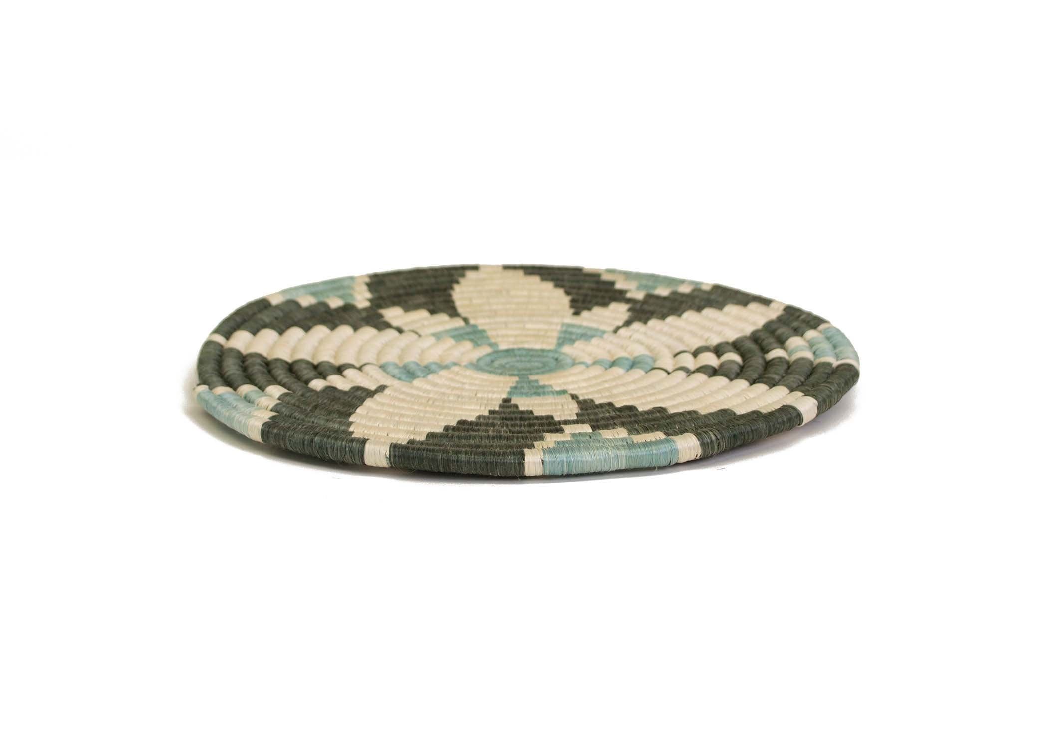 "10""  Gray Green Hope Trivet - KAZI - Artisan made high quality home decor and wall art"