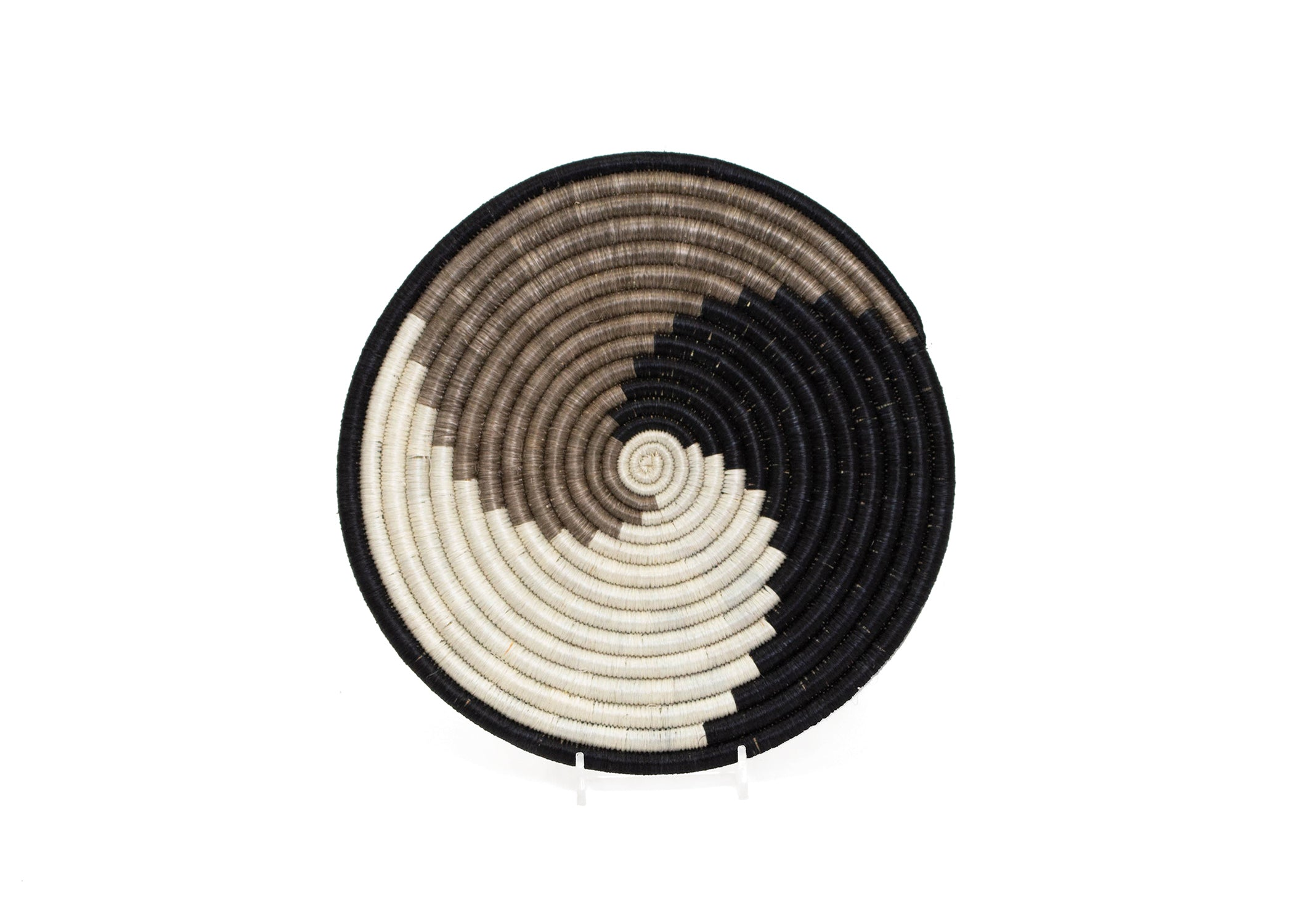 Light Taupe + Black Unity Trivet - KAZI - Artisan made high quality home decor and wall art