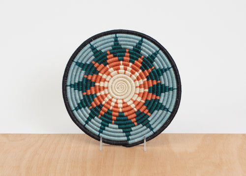 Melon + Teal Burst Trivet