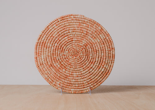 Heathered Burnt Orange Raffia Trivet