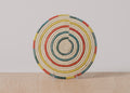 Color Blocked Raffia Trivet