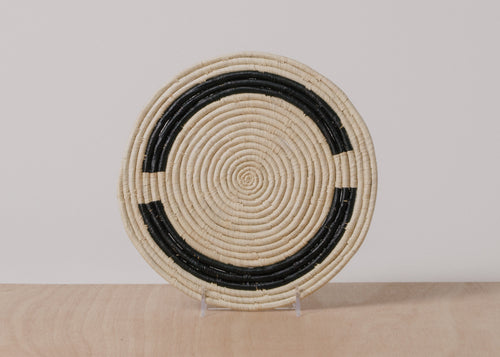 Kamba Black + Natural Raffia Trivet