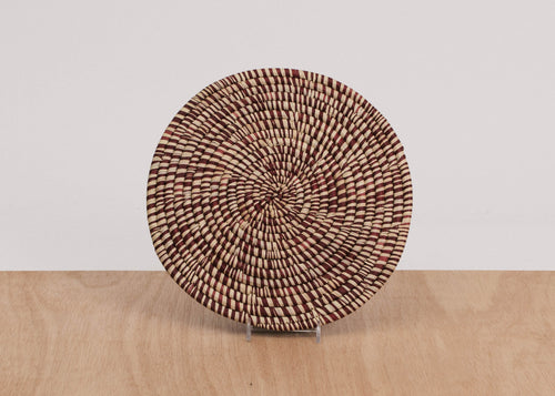 Heathered Berry Raffia Trivet