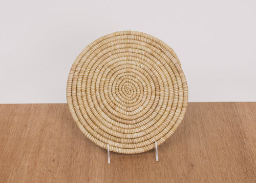 Heathered Soft Gold Raffia Trivet