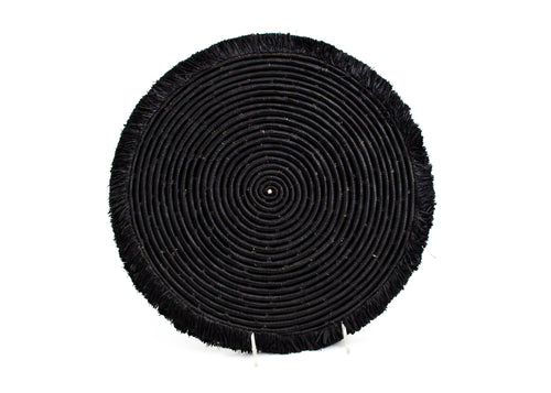 Black Large Fringed Placemat