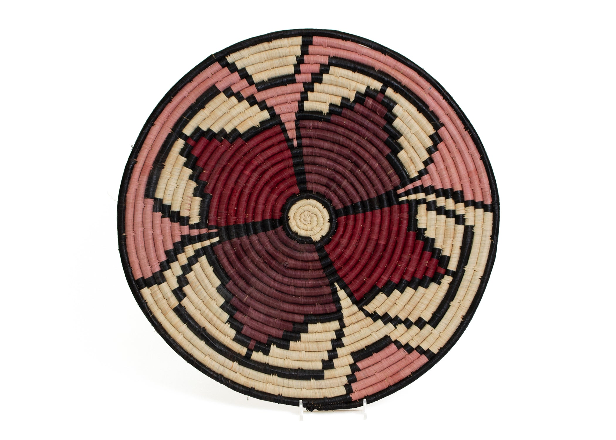"14"" Burgundy Florette Charger - KAZI - Artisan made high quality home decor and wall art"