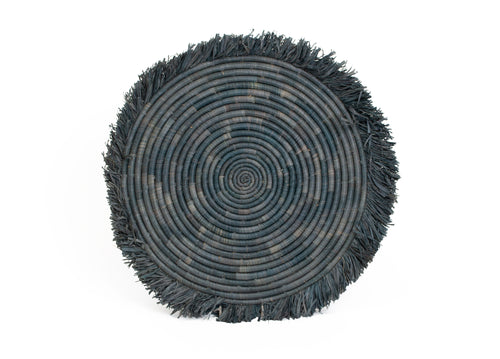 Carbon Large Fringed Charger