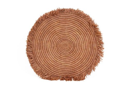 Camel Large Fringed Charger