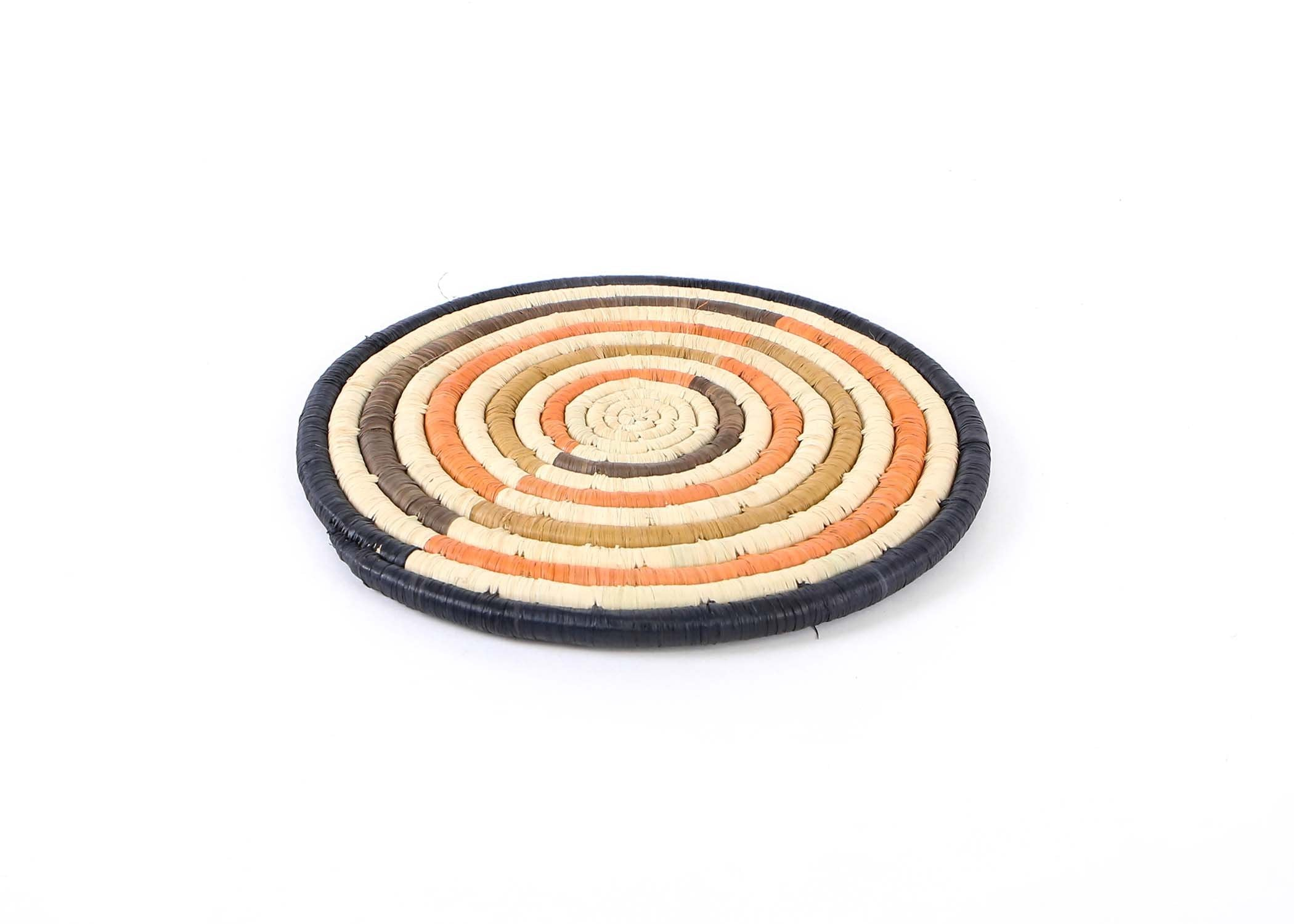"10"" Peach Striped Trivet - KAZI - Artisan made high quality home decor and wall art"