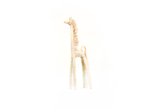 Natural Small Raffia Giraffe