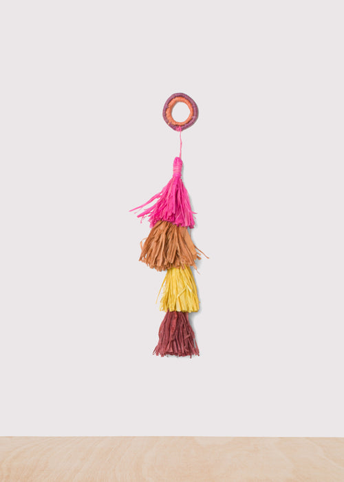 Small Colorful Raffia Tasseled Rope