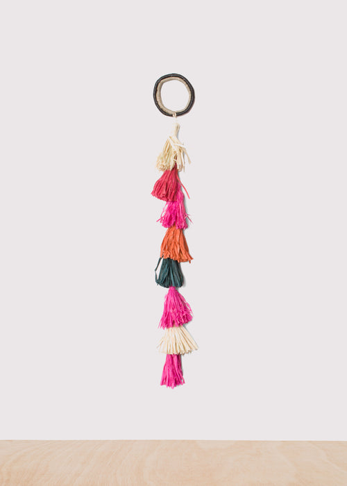 Medium Colorful Raffia Tasseled Rope