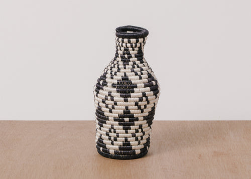 Black + White Bud Vase