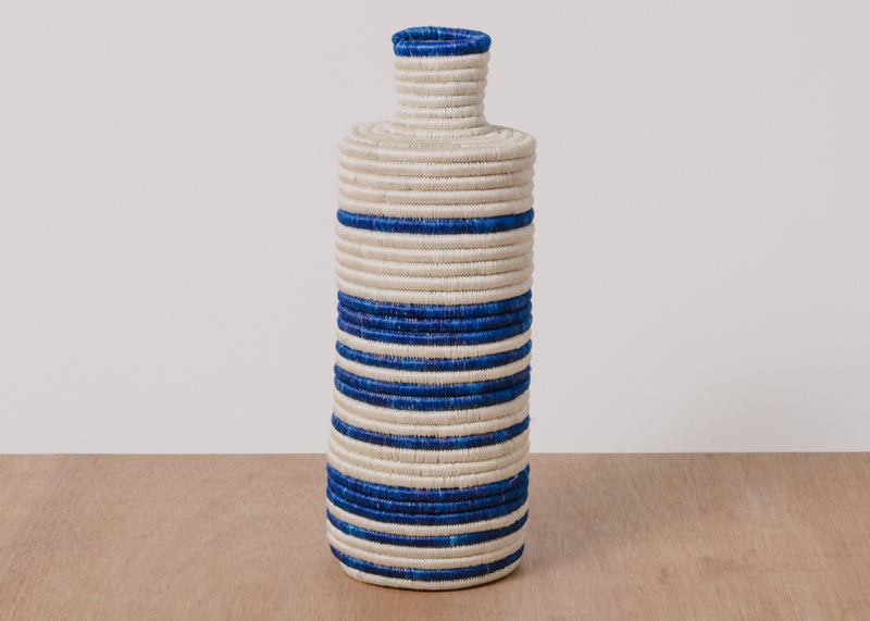 Lake Striped Tall Vase