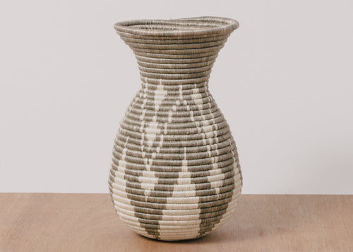 Light Taupe Plumped Vase