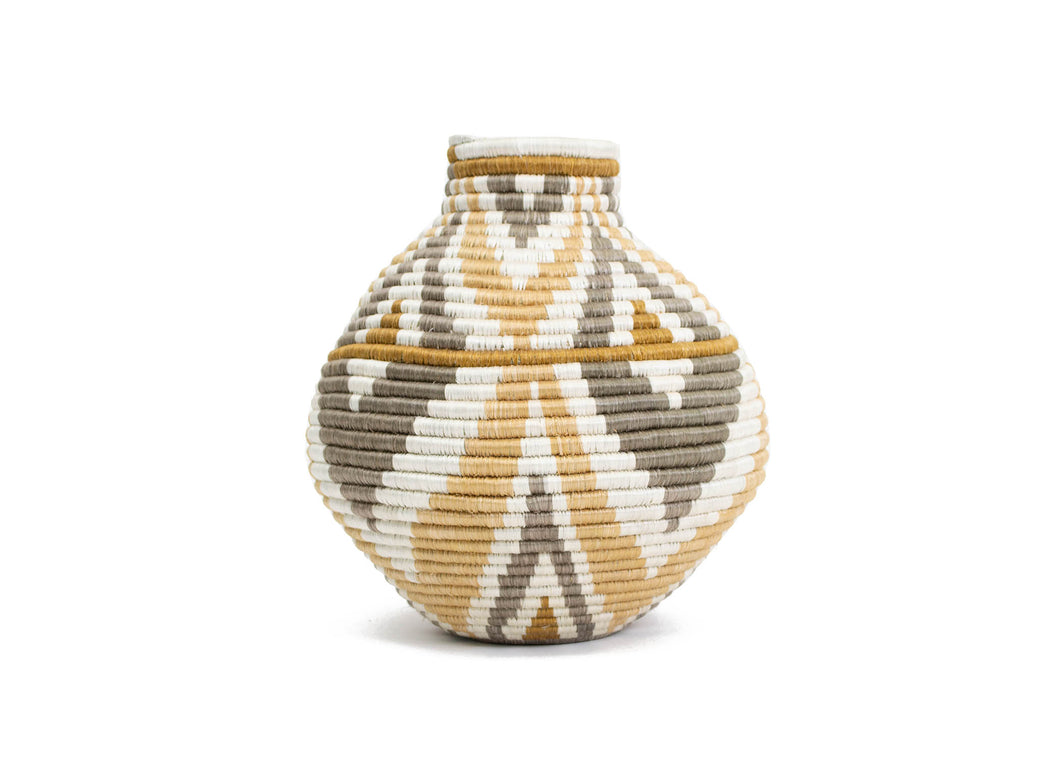 Soft Gold Mbao Vase - KAZI - Artisan made high quality home decor and wall art