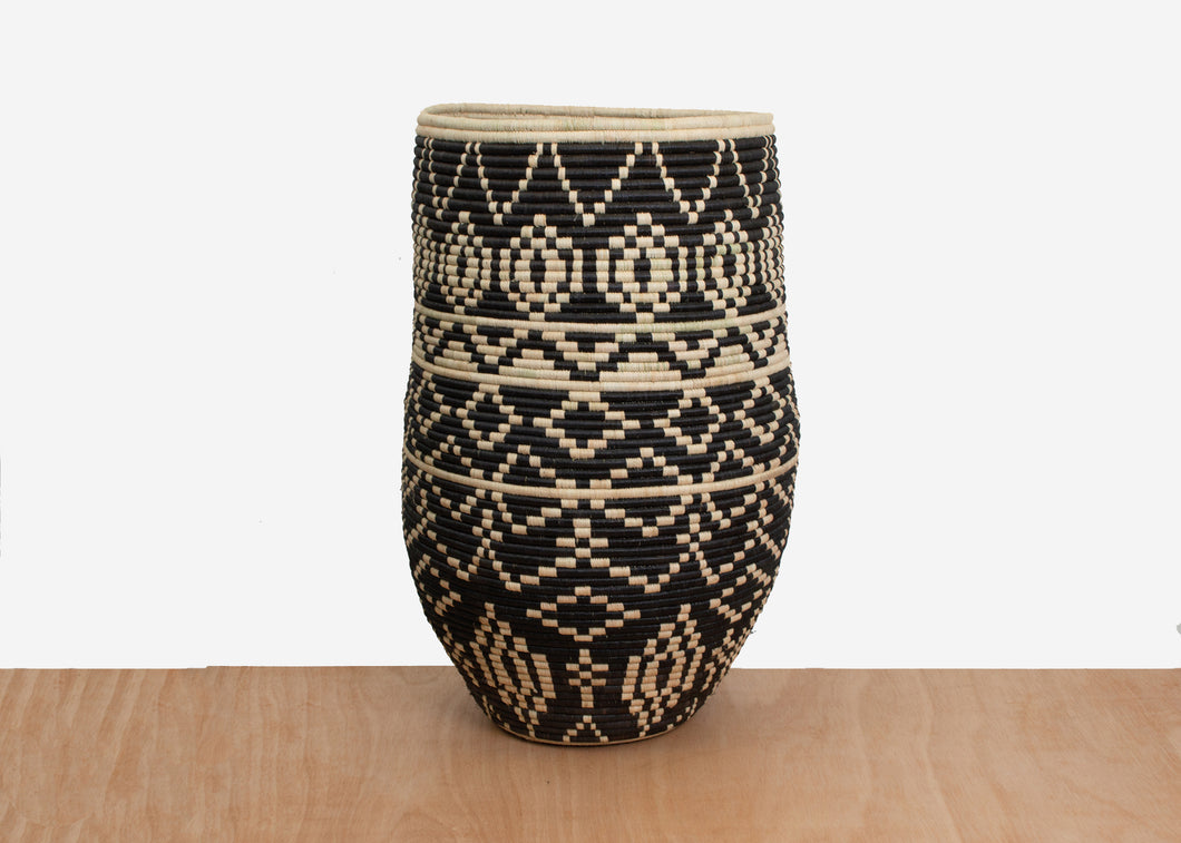 Imani Medium Floor Basket - KAZI - Artisan made high quality home decor and wall art