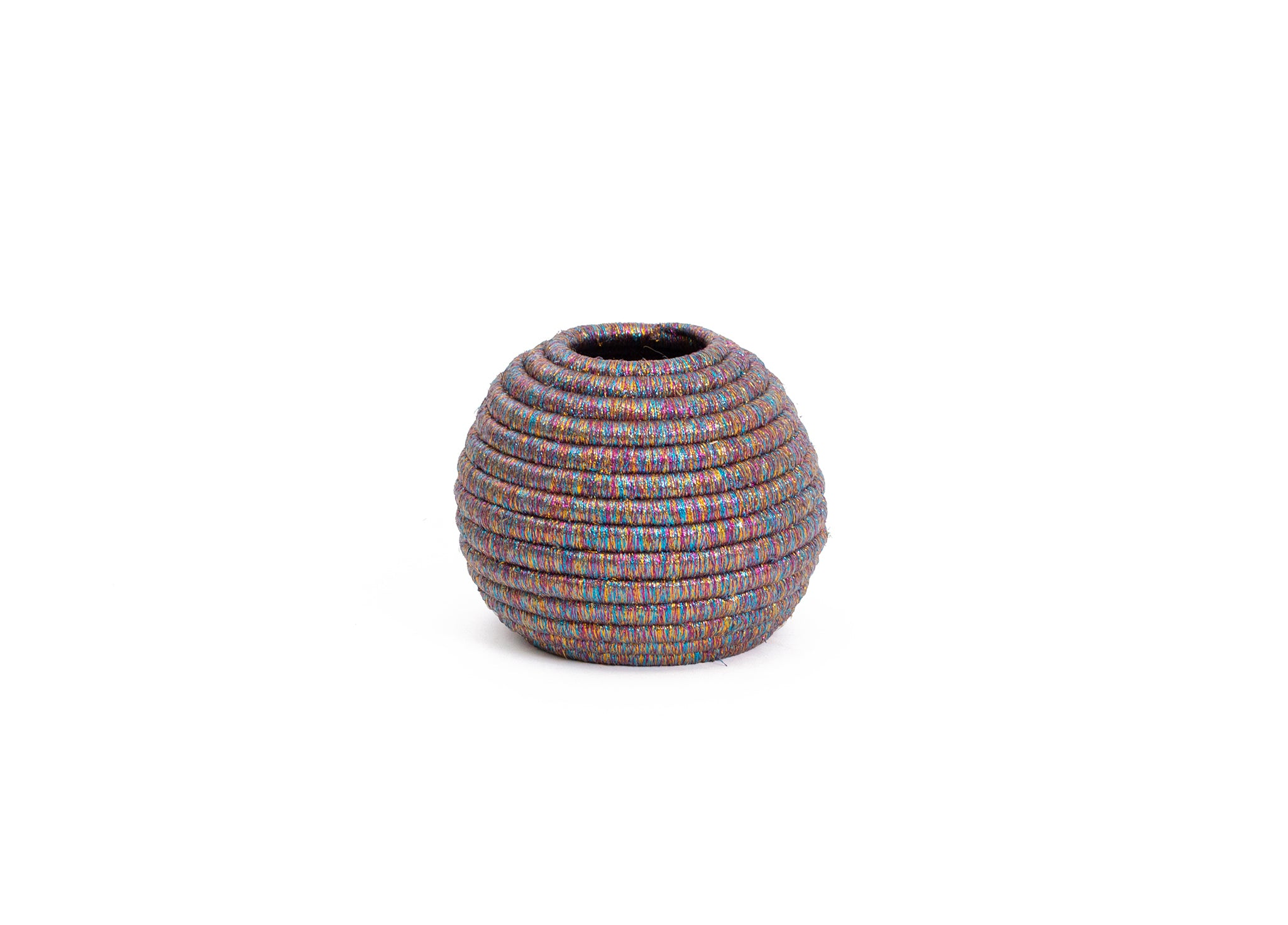 Metallic Prism Ball Vase - KAZI