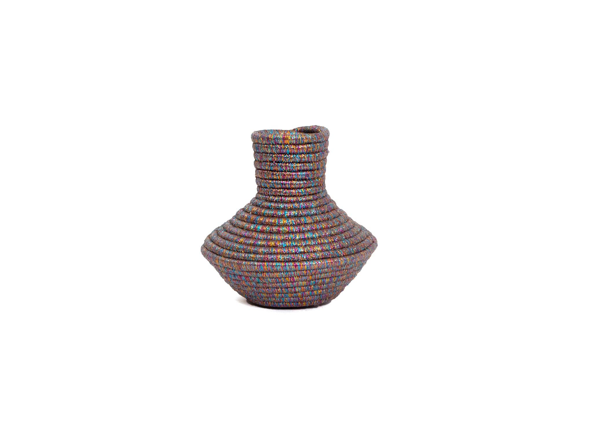 Metallic Prism Short Tapered Vase - KAZI - Artisan made high quality home decor and wall art