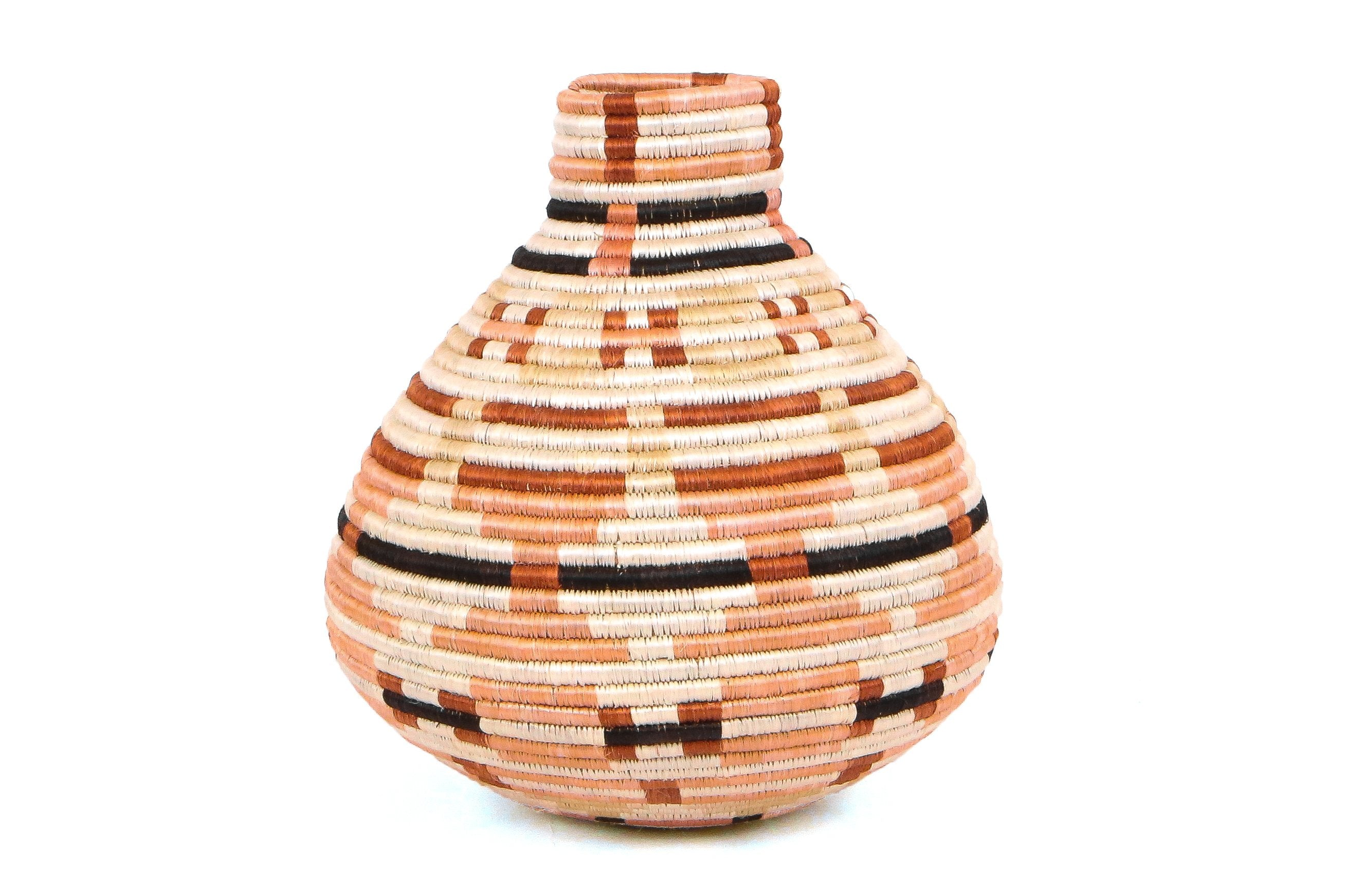 Peach Mpira Vase - KAZI - Artisan made high quality home decor and wall art